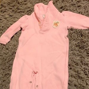 Ralph Lauren Baby Girl Pink Sweater Coverall